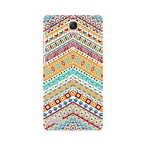 Wavy Ethnic Art Xiaomi Redmi Note Phone Cover