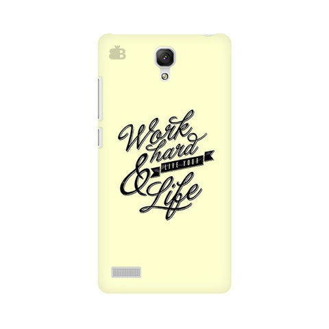 Work Hard Xiaomi Redmi Note Phone Cover