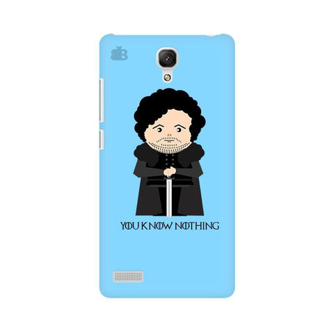You Know Nothing Xiaomi Redmi Note Phone Cover
