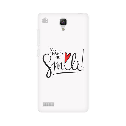 You make me Smile Xiaomi Redmi Note Phone Cover