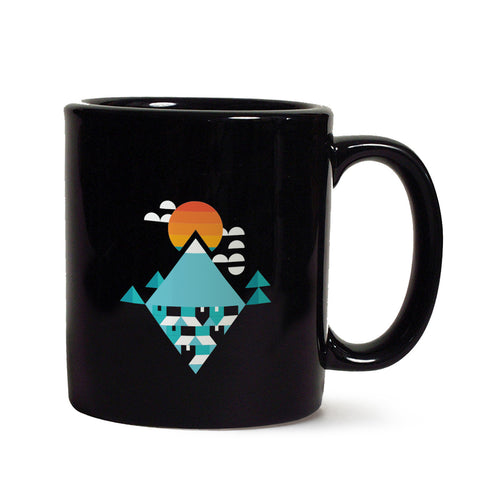Abstract Pattern Black mug