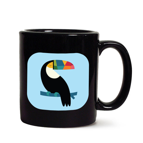Calm Bird Black mug