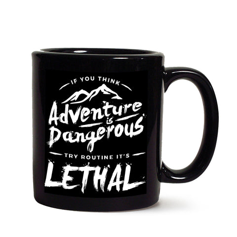 Adventure Black Coffee Mug