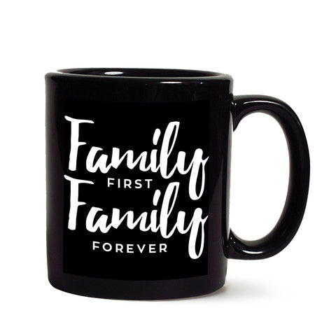 Family Black Coffee Mug