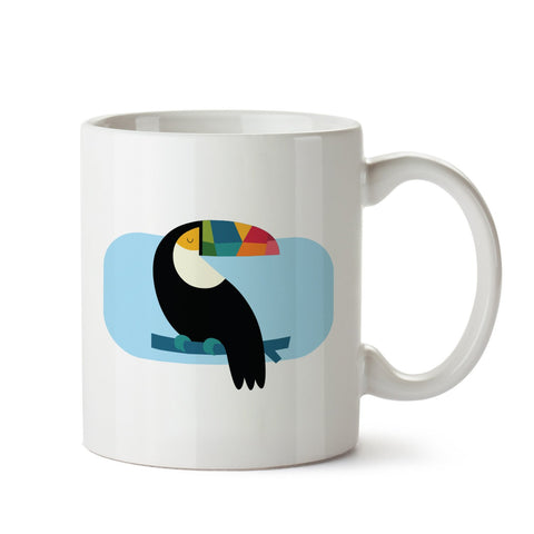 Calm Bird white mug