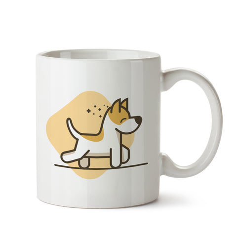 Happy Puppy white mug