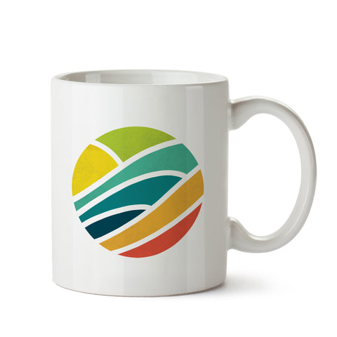Colorful Circle White Coffee Mug