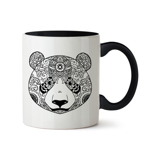 Ethnic Panda Art White Coffee Mug
