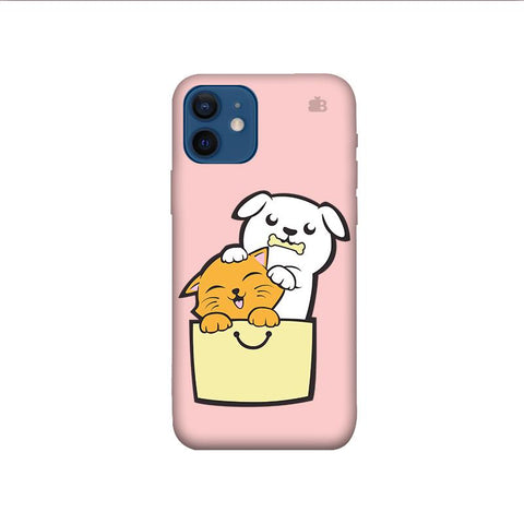 Kitty Puppy Buddies iPhone 12 Mini Phone Cover