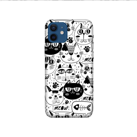 Cute Cats Pattern iPhone 12 Pro Phone Cover