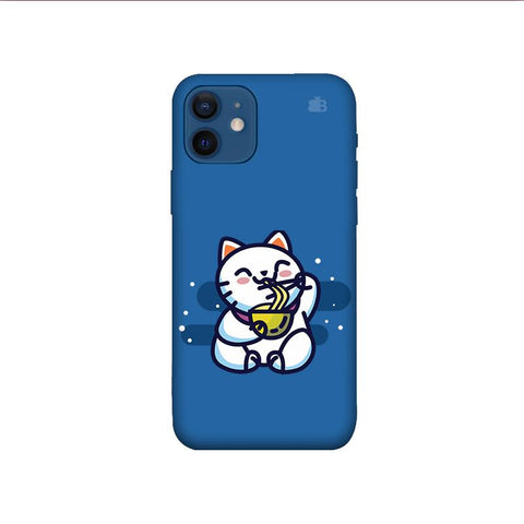 KItty eating Noodles iPhone 12 Pro Phone Cover