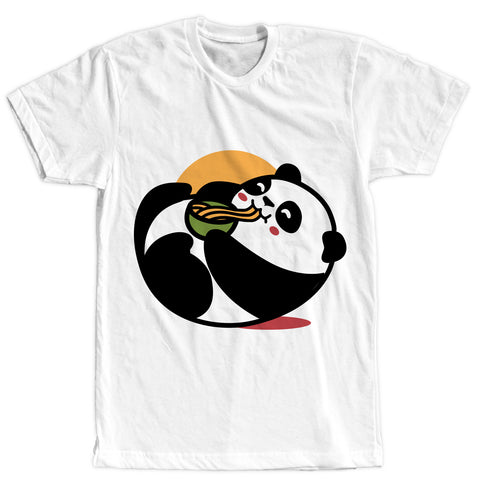 Panda Eating Noodles Tee