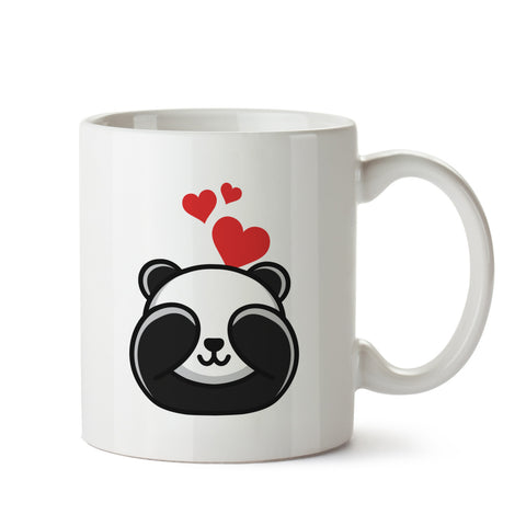 Panda In Love White Coffee Mug