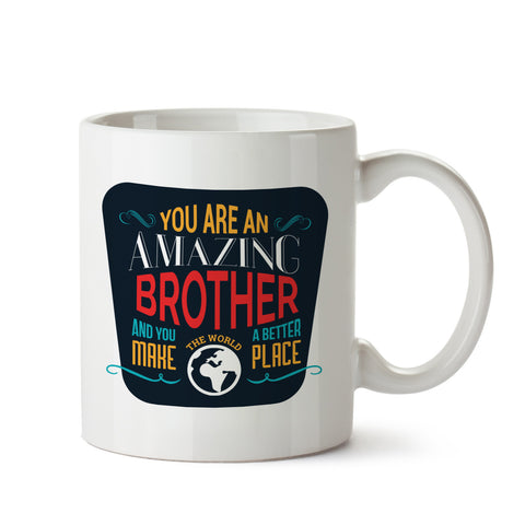 Amazing Brother White Coffee Mug