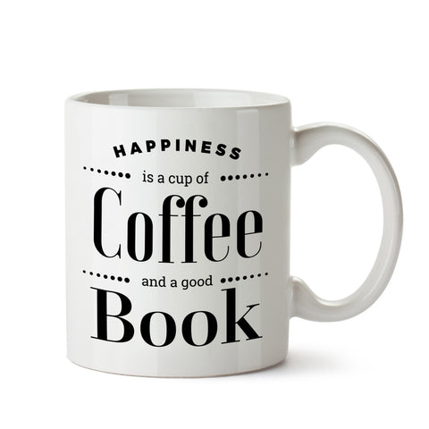 Coffee and Book White Coffee Mug