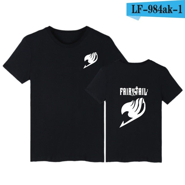 Print Fairy Tail Short Sleeve Tee Shirt Men Funny Classic Japanese Anime Summer Tshirt Men Brand Fashion Cartoon 4XL T-shirt Men