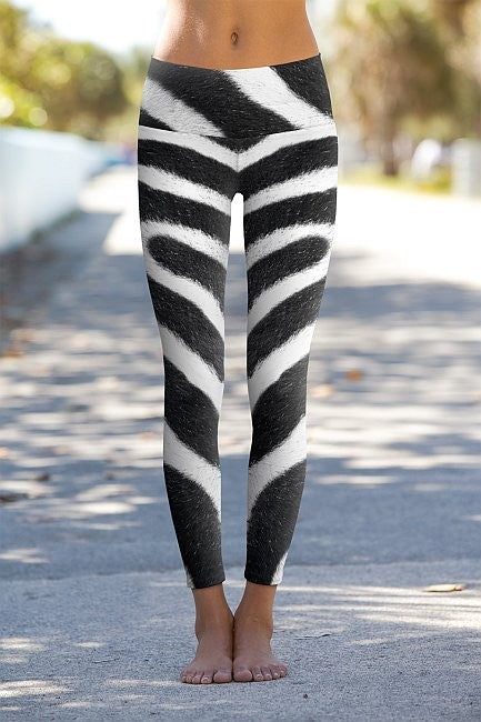 #Zebra Yoga Skin - Eco-Friendly Power Leggings