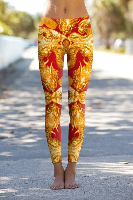 #Golden Dragon - Power Leggings