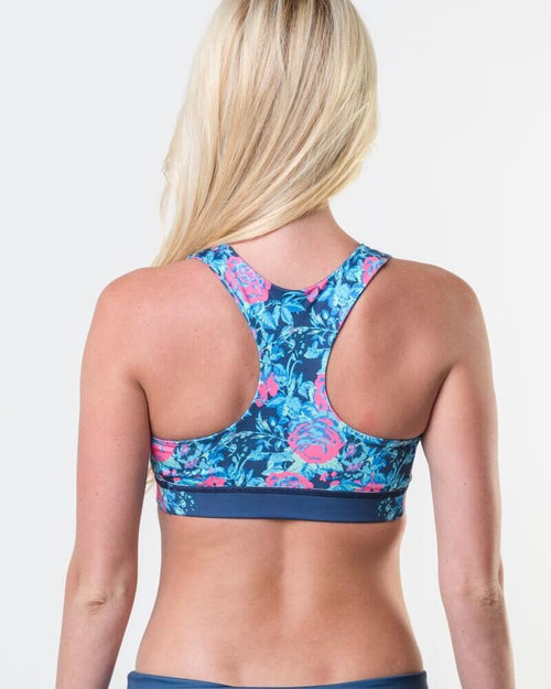 #Navy Floral - Eco-Friendly Reversible Bra