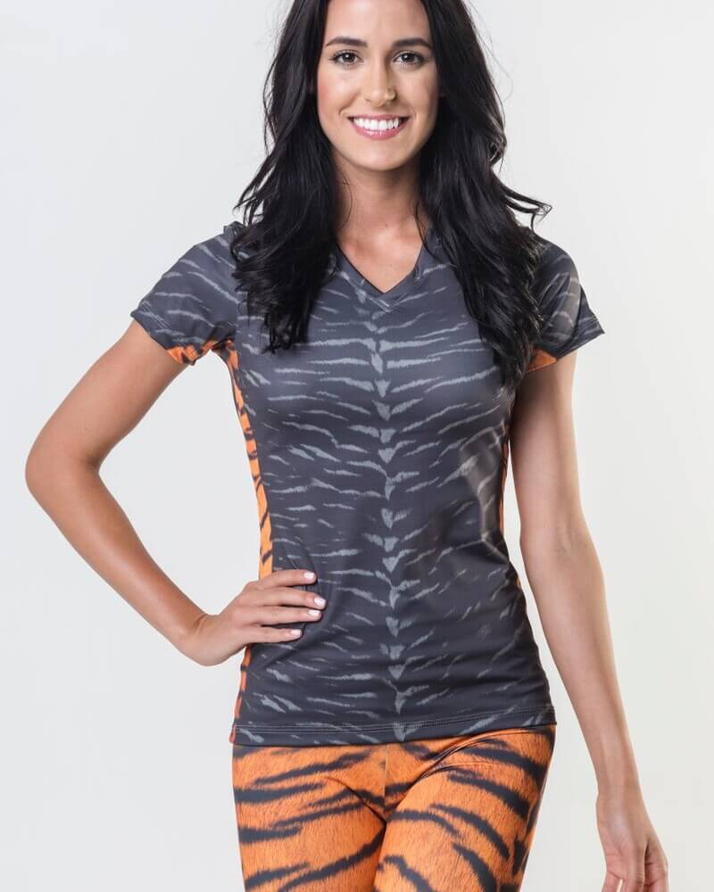 *Tiger Skin - Power V Neck Tee