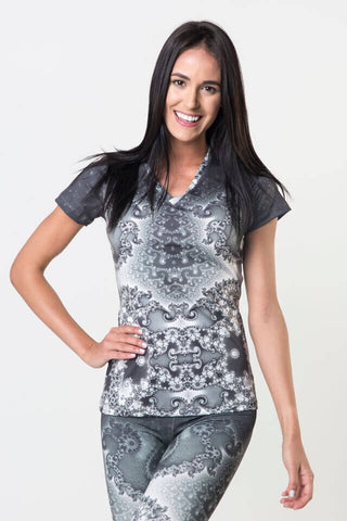 *Spider Web - Power V Neck Tee