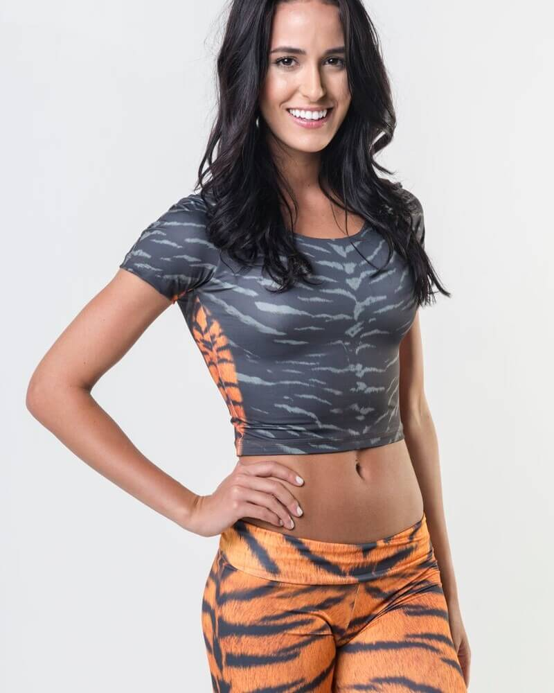 #Tiger Skin - Power Crop Top