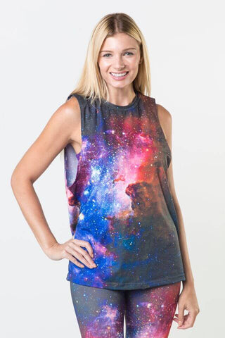 #Mandel Spiral - Dropped Armhole Tank Top