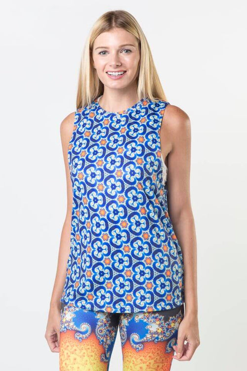 *Mandel Spiral - Dropped Armhole Tank Top