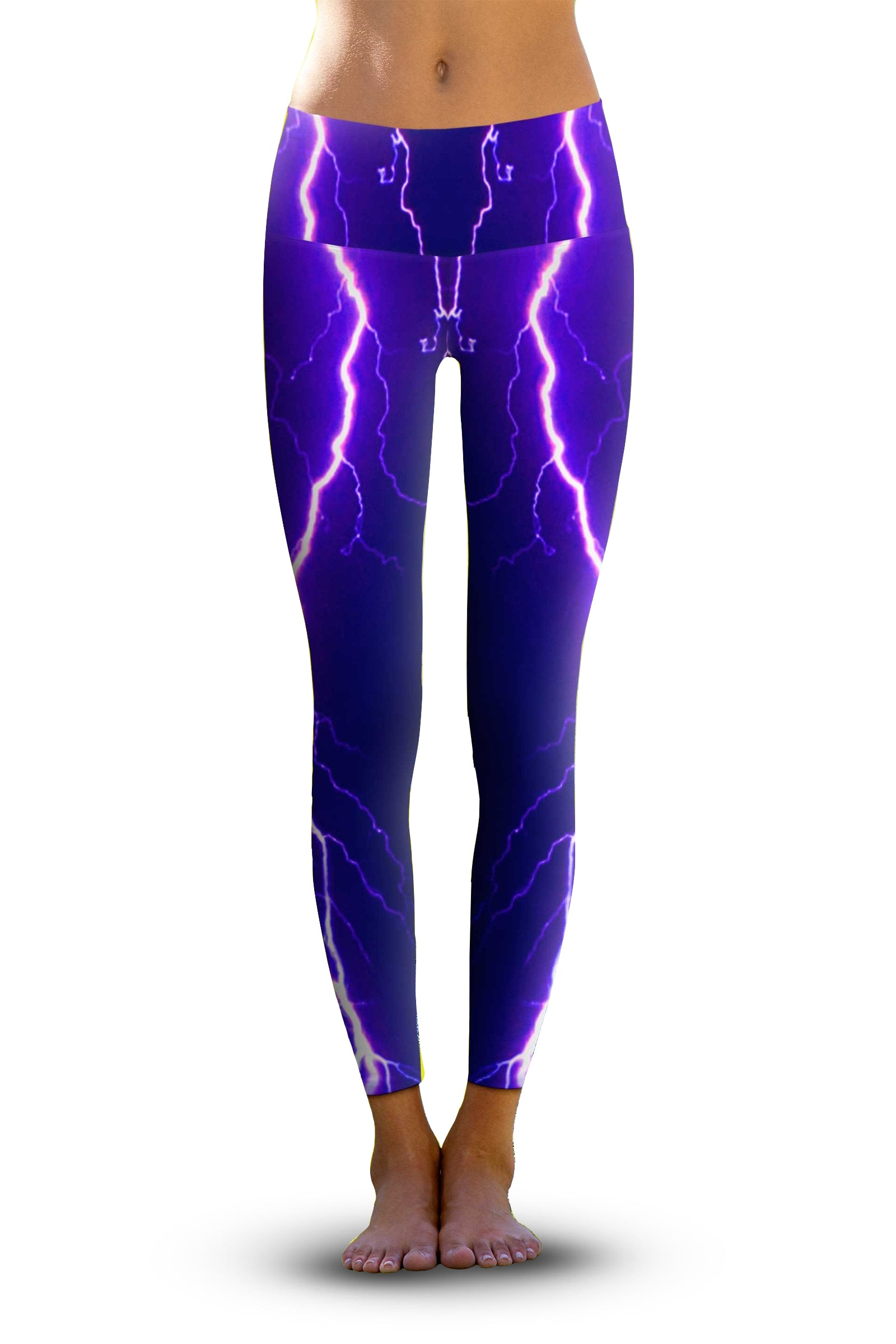 4765d4f496d0f Violet Lightning - Eco-Friendly Yoga Pants – Om Shanti Clothing