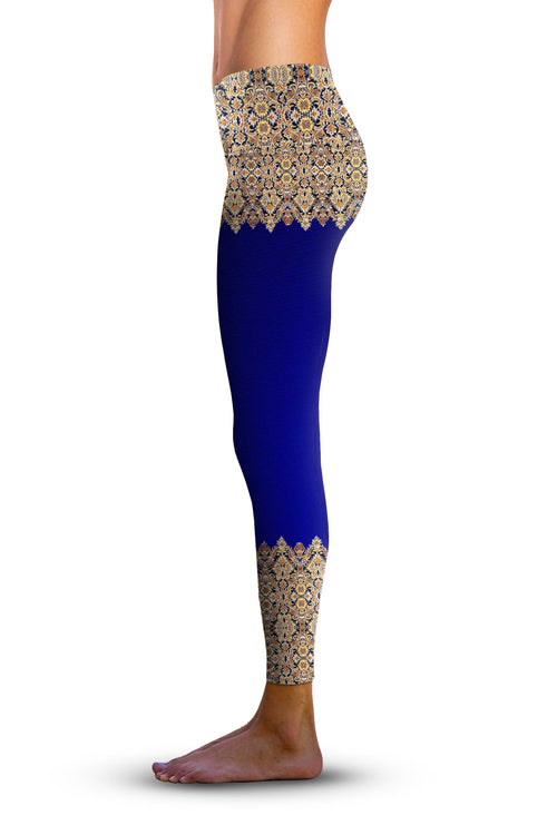 #Elegant Border, Eco-Friendly Active Performance Leggings