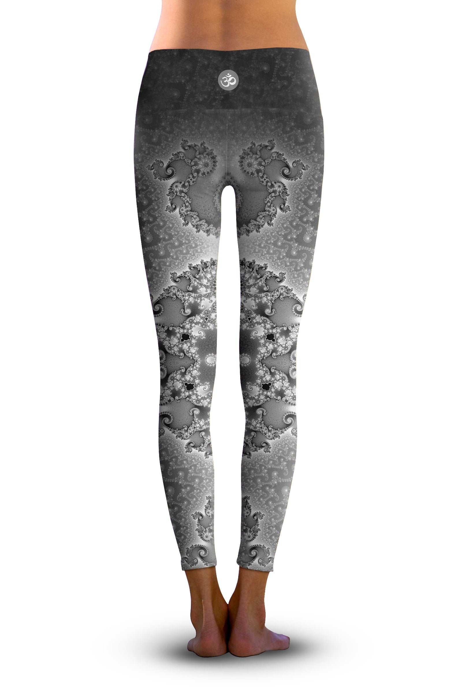 #Seahorse Spiral Fractal, Eco-Friendly Active Performance Leggings
