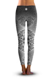 2nd Gen. Seahorse Spiral Fractal, Eco-Friendly Active Performance Leggings