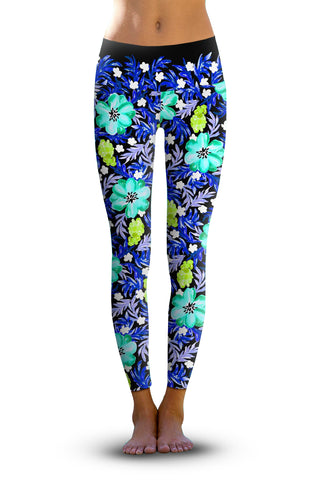 2nd Gen. Kaleidoscope Blooms, Eco-Friendly Active Performance Leggings