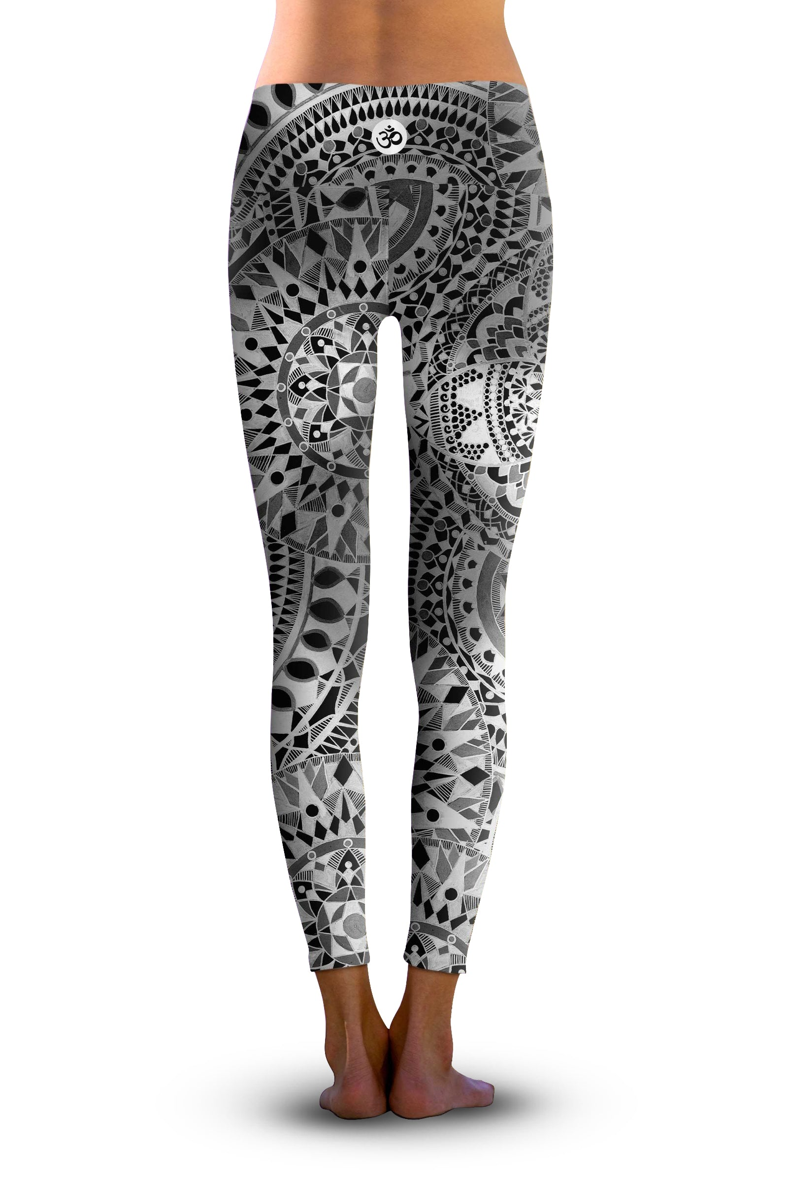 #Black Chakra, Eco-Friendly Active Performance Leggings