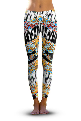 2nd Gen. Memphis Spikes, Eco-Friendly Active Performance Leggings