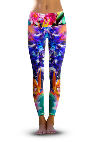 #Retro Rose - Eco-Friendly Power Leggings