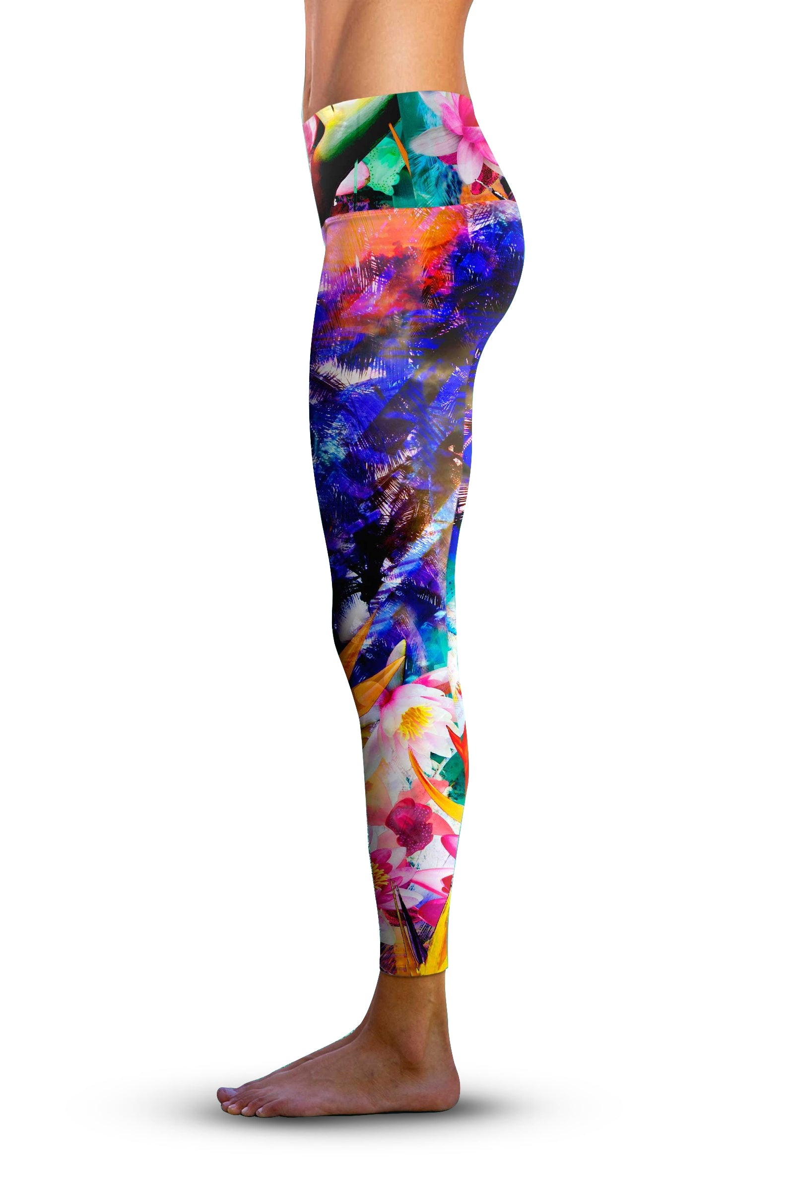 #Birds of Paradise, Eco-Friendly Active Performance Leggings