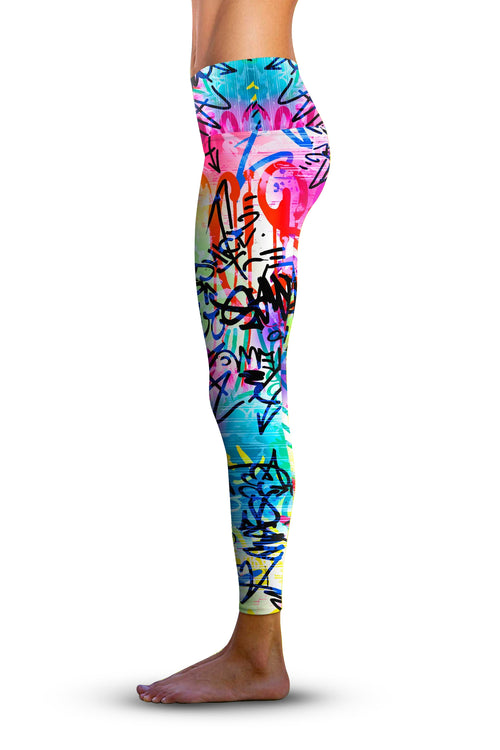 2nd Gen. Wicked Graffiti, Eco-Friendly Active Performance Leggings