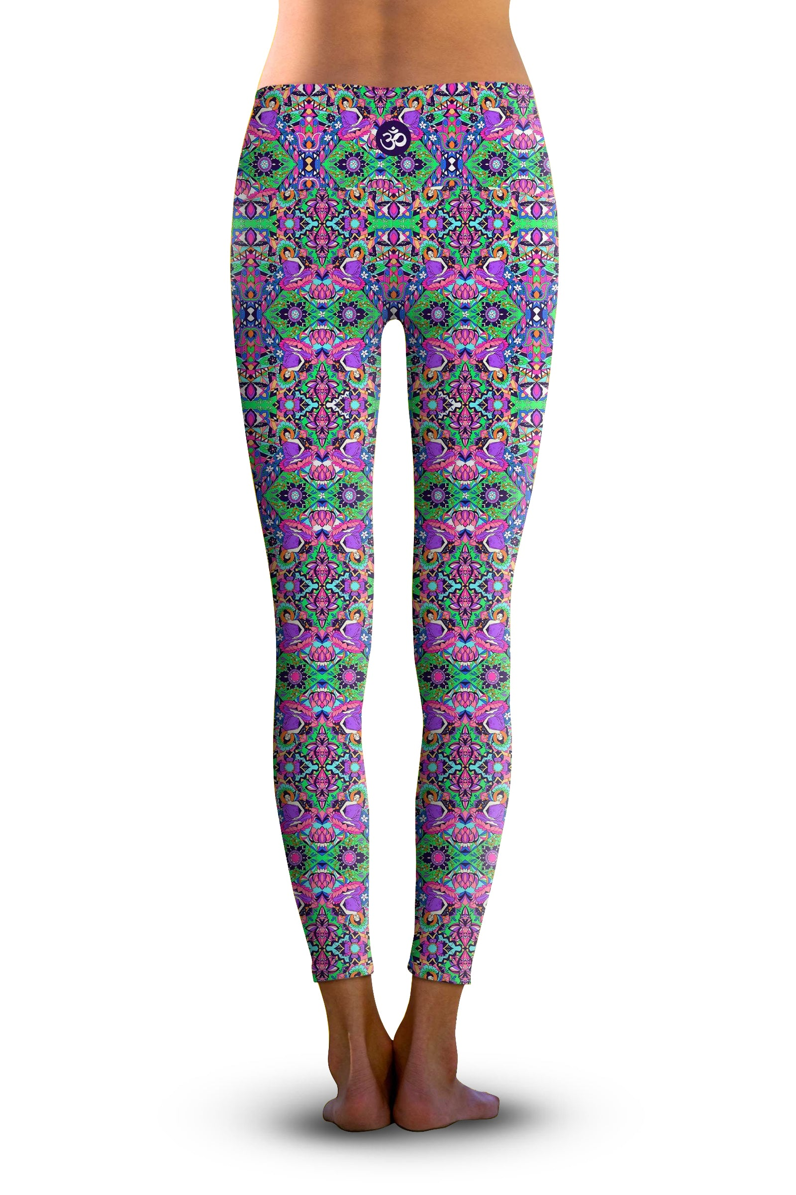 #Lotus Buddha, Eco-Friendly Active Performance Leggings