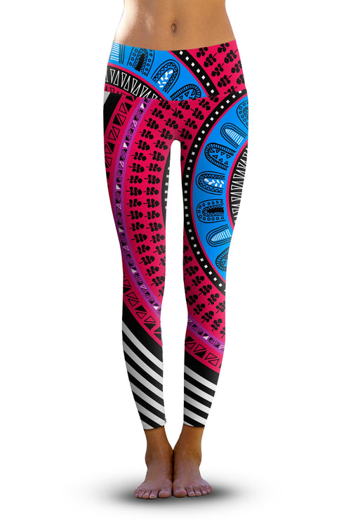 2nd Gen. Gypsy Swirl, Eco-Friendly Active Performance Leggings