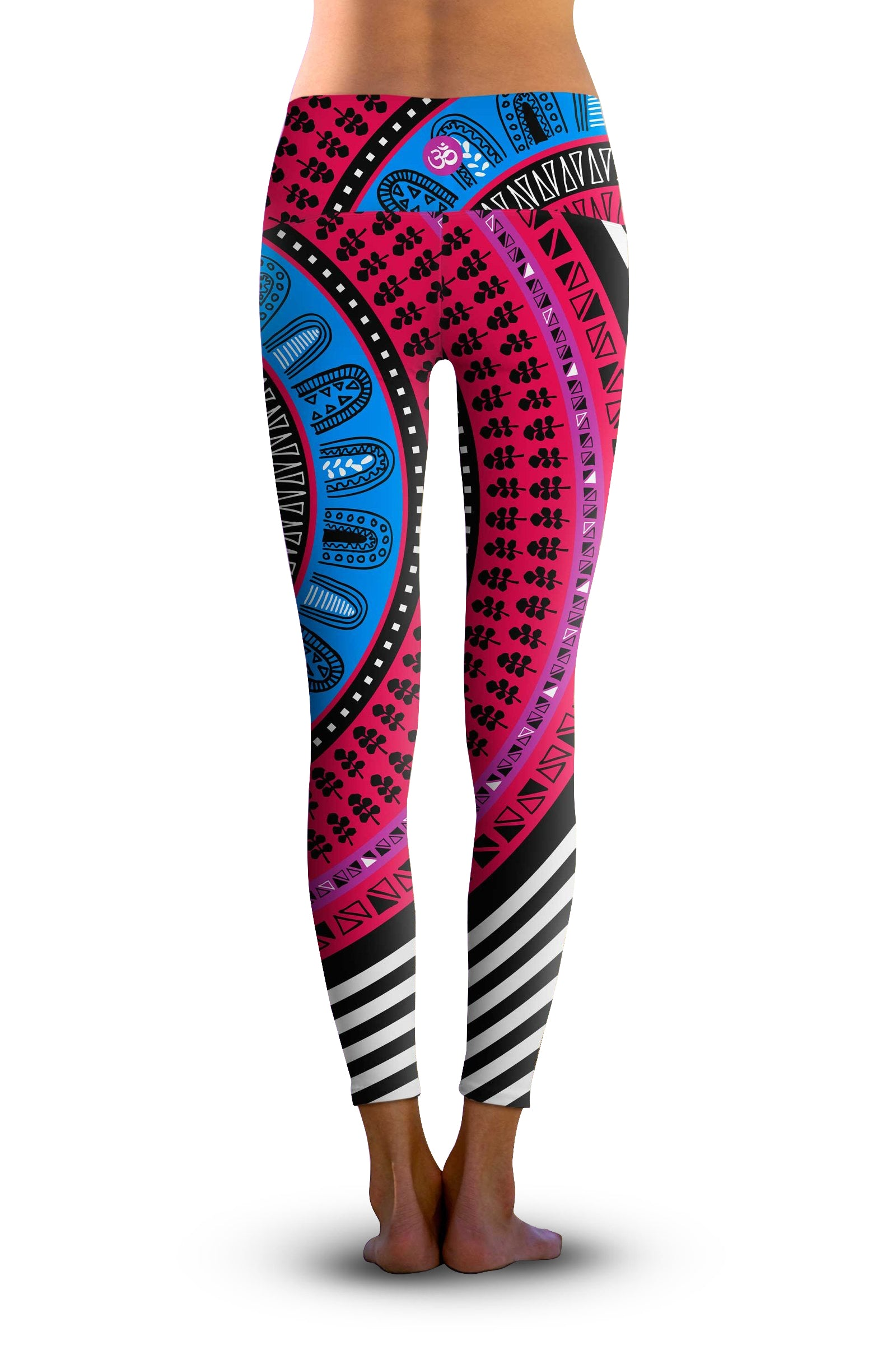 #Gypsy Swirl, Eco-Friendly Active Performance Leggings