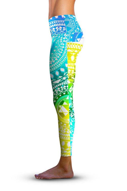 2nd Gen. Aqua Chakra, Eco-Friendly Active Performance Leggings