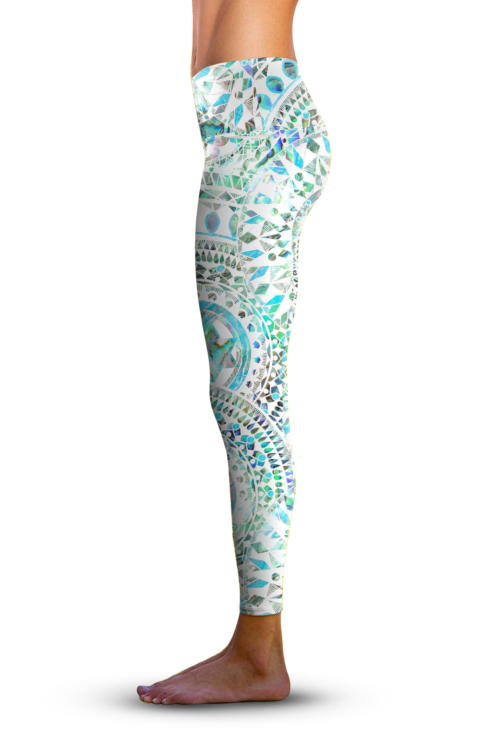 2nd Gen. Abalone Chakra, Eco-Friendly Active Performance Leggings