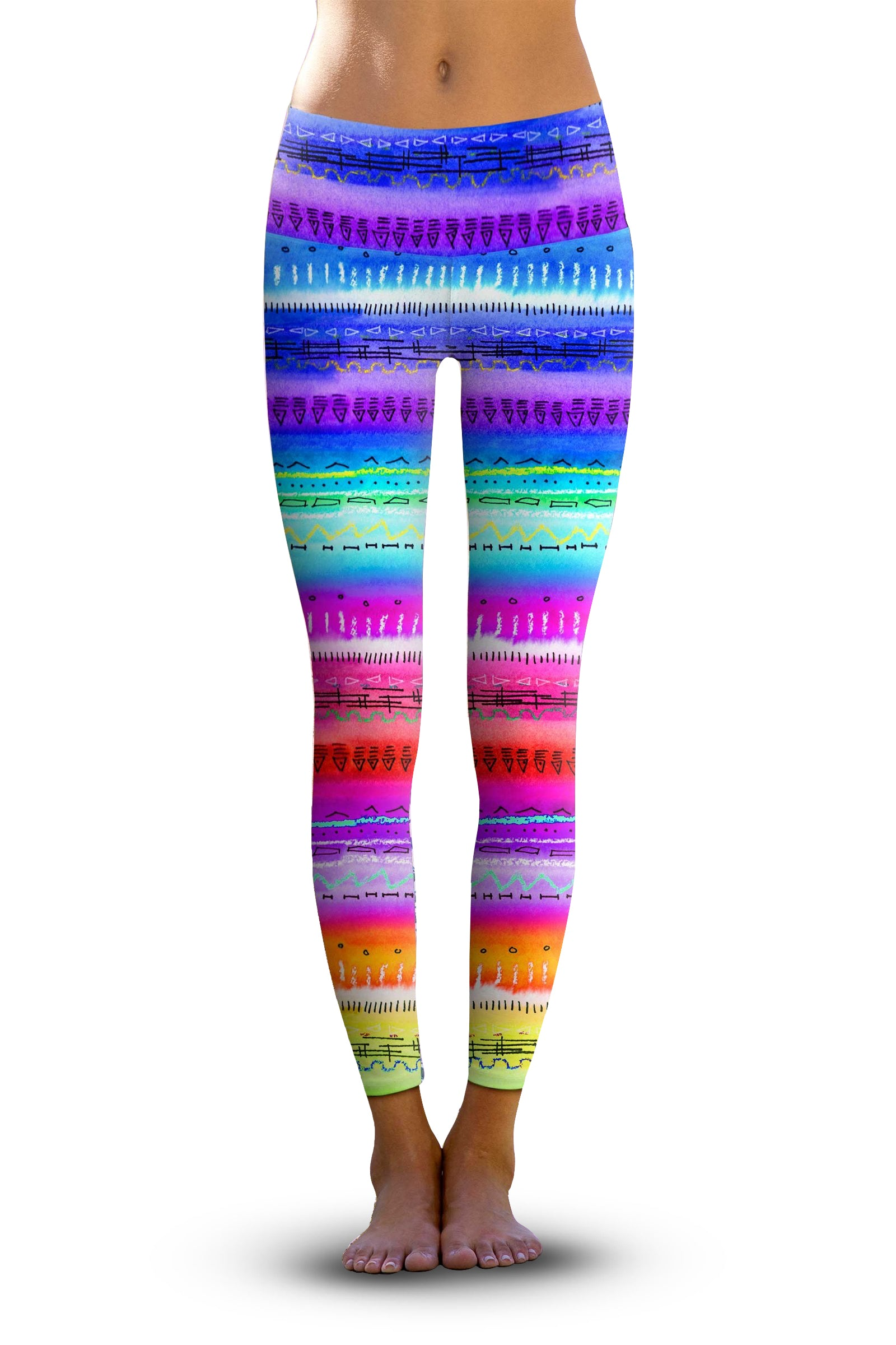 #Sunset Salutation, Eco-Friendly Active Performance Leggings