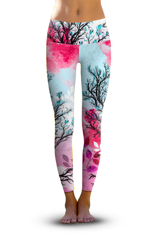 2nd Gen. Lotus Buddha, Eco-Friendly Active Performance Leggings