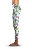 #Pineapple Party, Eco-Friendly Active Performance Leggings