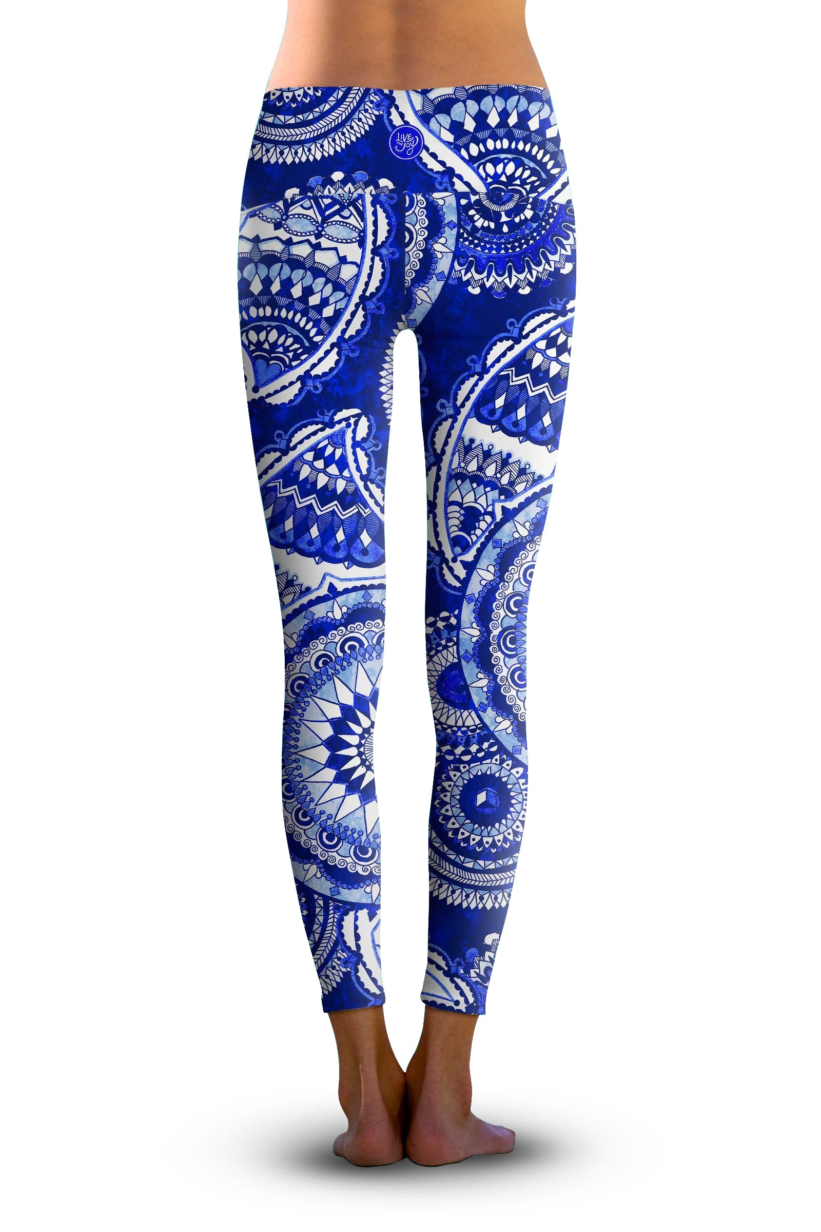 2nd Gen. Indigo Mandala, Eco-Friendly Active Performance Leggings