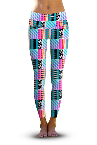 2nd Gen. Rainbow Leopard, Eco-Friendly Active Performance Leggings