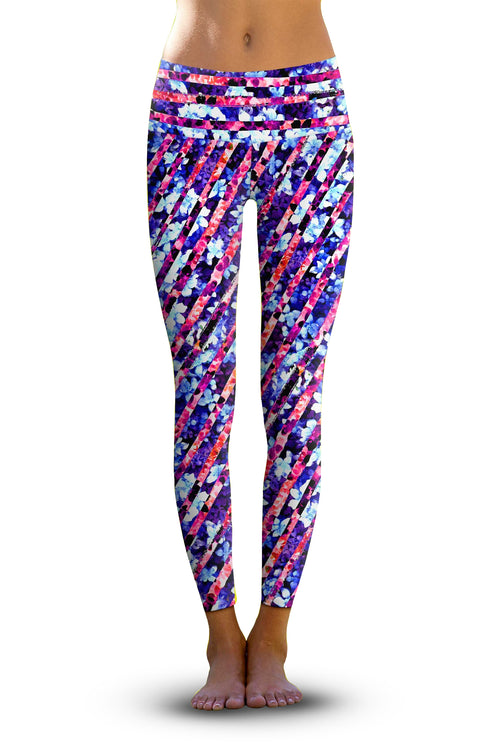 #Botanical Remix, Eco-Friendly Active Performance Leggings