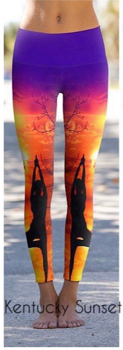 #Kentucky Sunset - Eco-Friendly Power Leggings